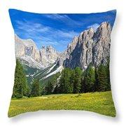 Dolomites - Catinaccio Mount Throw Pillow