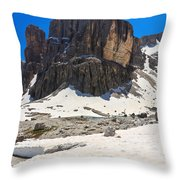 Dolomites - Pisciadu Peak Throw Pillow
