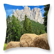 Dolomiti - Alpine Pasture Throw Pillow