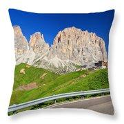 Dolomiti - Sella Pass Throw Pillow