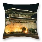 Dongdaemun Gate Landmark In Seoul South Korea Throw Pillow