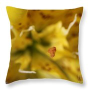 Double Asiatic Lily Named Fata Morgana Throw Pillow