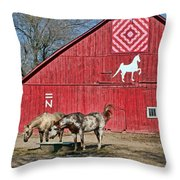 Double Bar N - 4 Throw Pillow