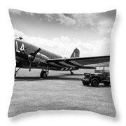 Douglas C-47a Skytrain Ready For D-day Throw Pillow