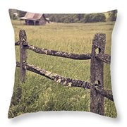 Down On The Farm Throw Pillow