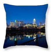 Downtown At Dusk Throw Pillow