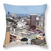 Downtown Atlantic City Throw Pillow