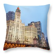 Downtown Chicago View Throw Pillow