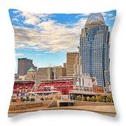 Downtown Cincinnati Pano1 Throw Pillow