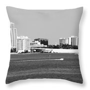 Downtown Clearwater Skyline Throw Pillow
