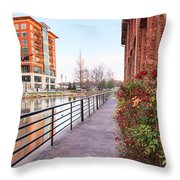 Downtown Greenville Sc Throw Pillow