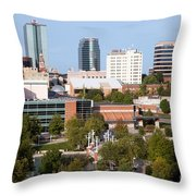 Downtown Knoxville Tennessee Skyline Throw Pillow