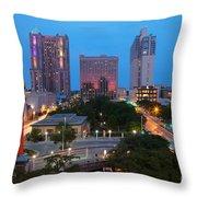 Downtown San Antonio Texas Skyline Throw Pillow