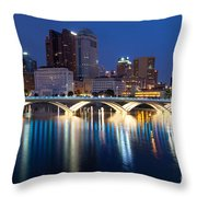 Downtown Skyline Of Columbus Throw Pillow