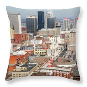 Downtown Skyline Of Louisville Kentucky Throw Pillow