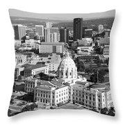Downtown Skyline St. Paul Minnesota Throw Pillow