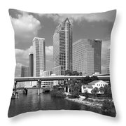 Downtown Tampa Skyline From Davis Islands Throw Pillow
