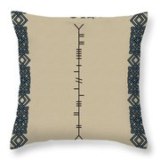Doyle Written In Ogham Throw Pillow