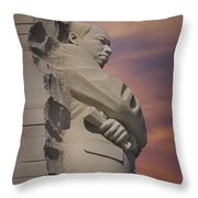 Dr. Martin Luther King Jr Memorial Throw Pillow