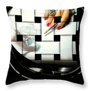 Draft Throw Pillow by Diana Angstadt