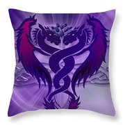 Dragon Duel Series 4 Throw Pillow