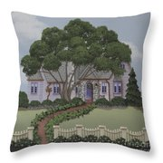 Dragonfly Cottage Throw Pillow