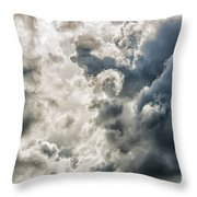 Drama In The Sky Throw Pillow