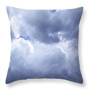 Dramatic Cloudy Sky Throw Pillow