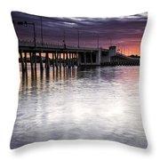 Drawbridge At Sunset Throw Pillow