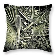 Dreamy Green Throw Pillow