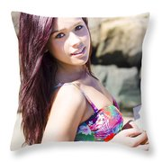 Dreamy Holiday Throw Pillow