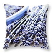 Dried Lavender Throw Pillow