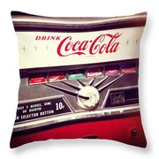Drink Coca Cola Throw Pillow