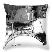 Drummer Gene Krupa Throw Pillow