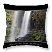 Dry Falls North Carolina Throw Pillow