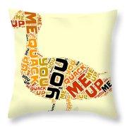 Duck Humor Throw Pillow