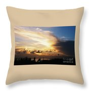 Sunset At Ducks Puddle, Bermuda Throw Pillow