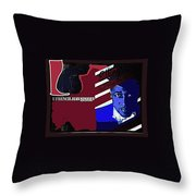 Duke Ellington And The French Jean Store Collage Coney Island New York 1977-2012 Throw Pillow