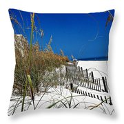 Dune Fence Me In Throw Pillow
