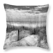 Dune Fences Throw Pillow