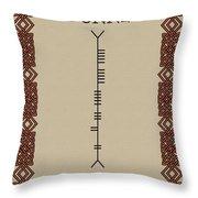 Dunne Written In Ogham Throw Pillow