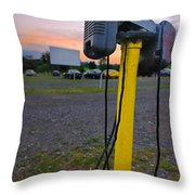 Dusk At The Drive In Movie Throw Pillow by Amy Cicconi