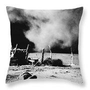 Dust Bowl, 1935 Throw Pillow