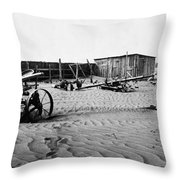 Dust Bowl, C1936 Throw Pillow