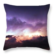 Dying Storm Cells With Fantastic Lightning Throw Pillow
