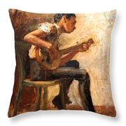 Eakins' Study For Negro Boy Dancing -- The Banjo Player Throw Pillow