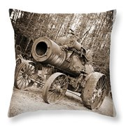 Early 1900's Steam Engine Farm Tractor Throw Pillow