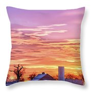 Early Country Morning Sunrise Throw Pillow