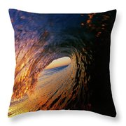 Early Morning Wave Breaking Throw Pillow