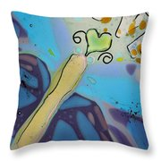 Earth Love Butterfly Throw Pillow